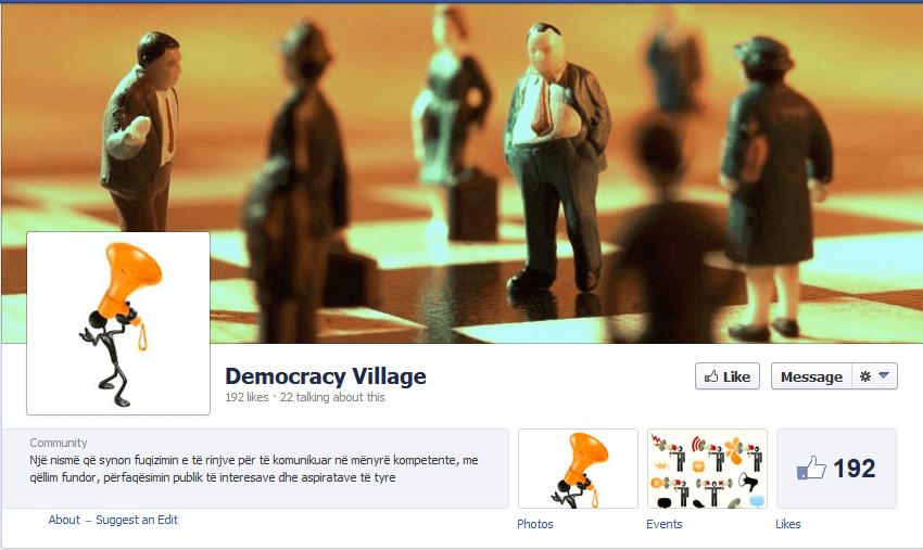 Democracy Village - promovimi i trajnimit