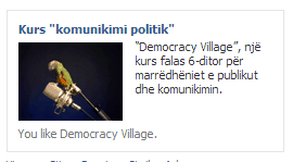 Reklama per Trajnimin per komunikimin politik