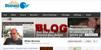 """Sfida Biznesi - imazhi ballor është një """"printscreen"""" i faqes zyrtare."""