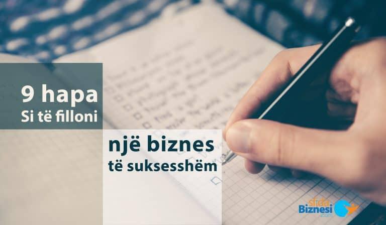 9 hapa si të hapim një biznes të suksesshëm