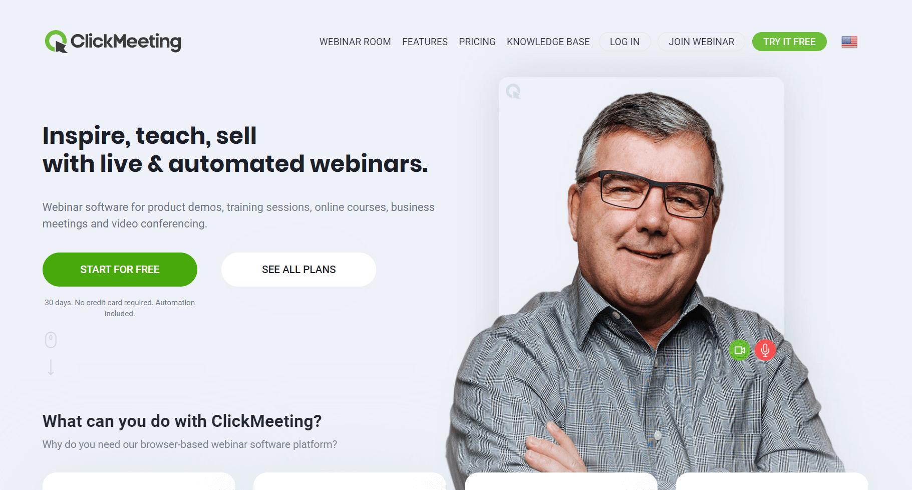 ClickMeeting per video konferenca