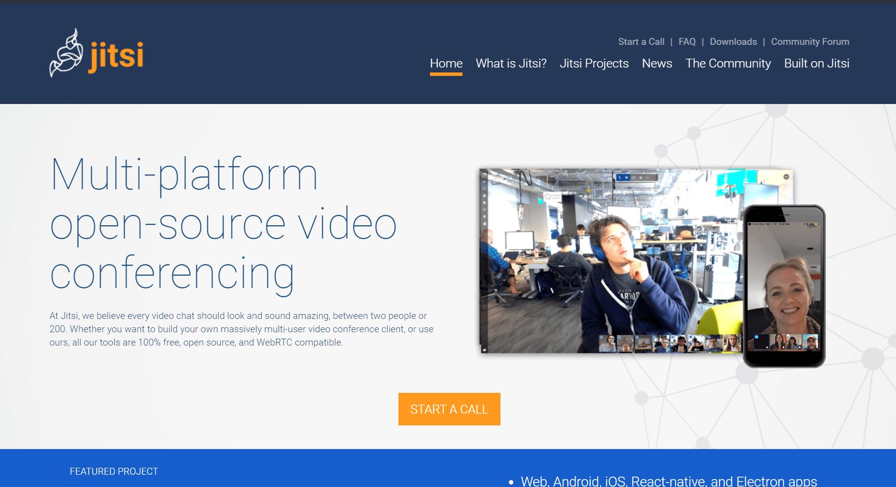 Jitsi per video konference