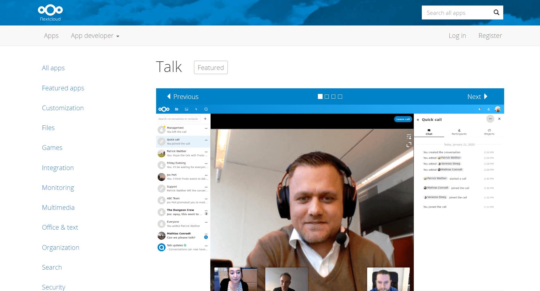 NextCloud Talk per video konferenca dhe bashkepunim online