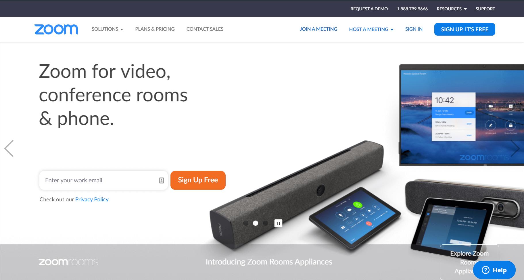 Zoom per video konference
